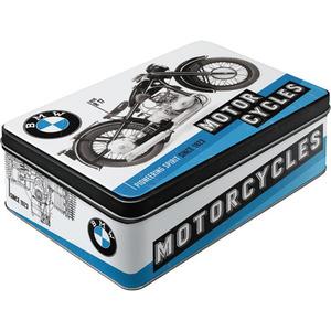 "Nostalgic-Art Vorratsdose Flach ""BMW-Motorcycles"" blau"