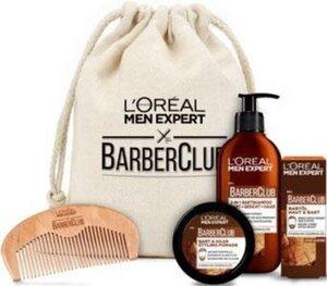 L'ORÉAL PARIS MEN EXPERT Geschenk-Set »Barber Club Premium«, 5-tlg., die ganze Bartpflegeroutine im coolen Jutebeutel