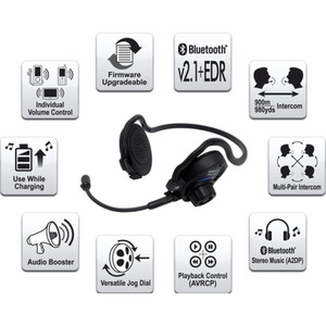 Sena SPH10 Bluetooth Headset Single Pack Kommunikationssystem schwarz
