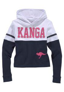 KangaROOS Langarmshirt mit Kapuze in kurzer Form