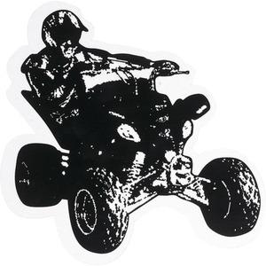 POLO Aufkleber Quadfahrer klein schwarz
