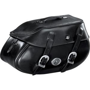 H&B Ledersatteltaschenpaar Buffalo 60 Liter schwarz