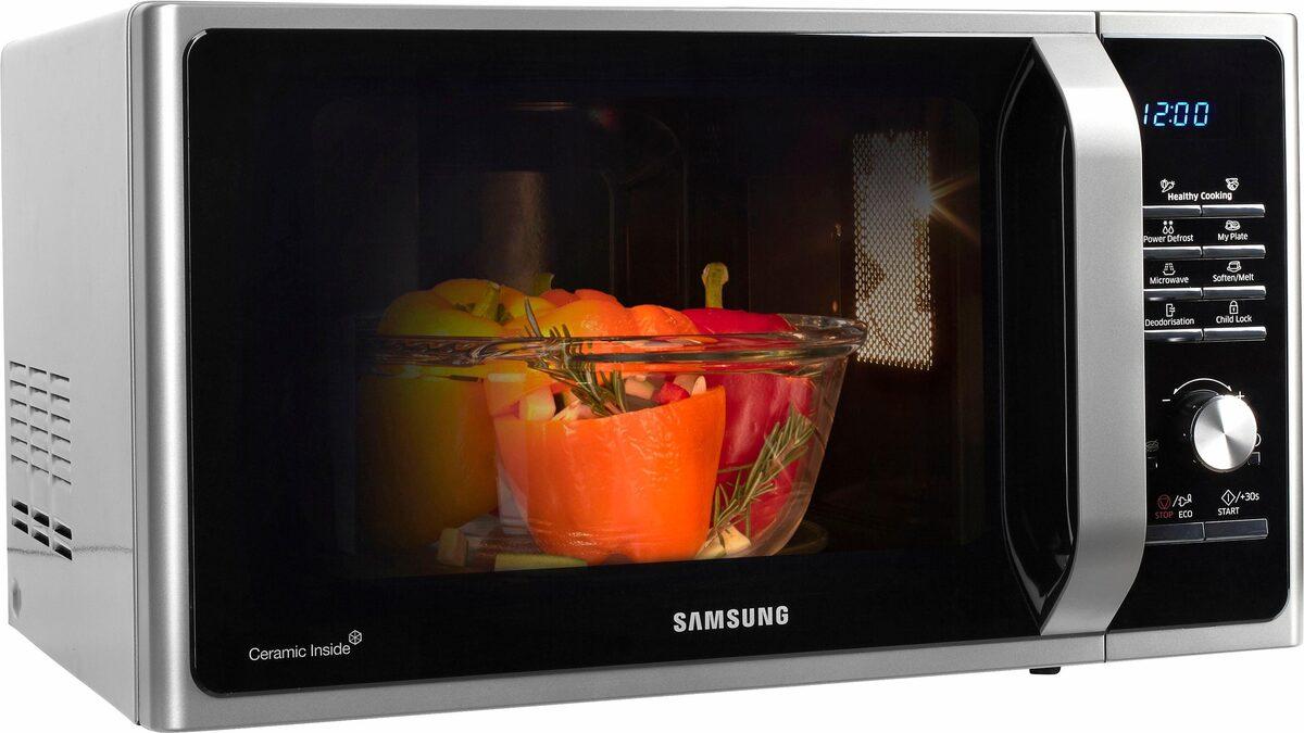 Bild 2 von Samsung Mikrowelle MW3000 MS28F303TAS/EG, Mikrowelle, 28 l, mit Keramik-Emaille-Innenraum