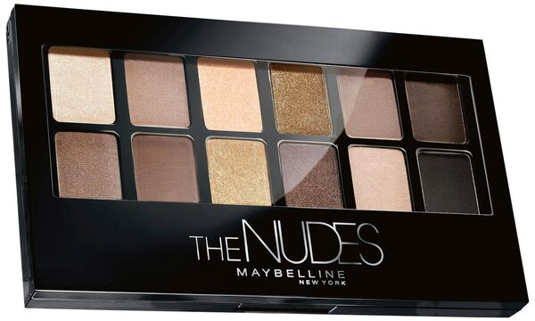 MAYBELLINE NEW YORK Lidschatten-Palette »The Nudes«, 2-in-1 Applikator