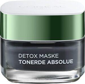 L'ORÉAL PARIS Gesichtsmaske »Tonerde Absolue Detox (black)«, mit Aktivkohle