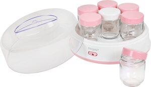 exquisit Joghurtbereiter YM 3101 wep, 7 Portionsbehälter, je 200 ml