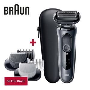 Rasierer Series 6  60-N1000s · intelligenter SensoFlex Scherkopf sorgt für weniger Druck während Rasur · SensoFoil Klingen für gute Hautverträglichkeit · 50 Minuten Akkulaufzeit · 5 Minuten S