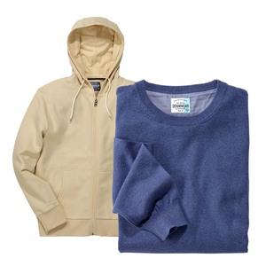 Herren- Sweatjacke oder -Pullover Größe: S - XXL, je