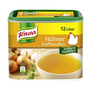 Knorr Gemüse Brühe, Hühner Kraft-Bouillon oder Fleisch Suppe für 12 bis 16 Liter, jede Dose