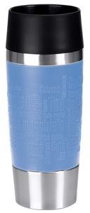 Emsa Travel Mug Isolierbecher, blau, 360 ml, Edelstahl 18/10, Polypropylen (PP), Silikon