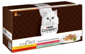 60 x 85g Gourmet AlaCarte Rezepte des Küchenchefs - Huhn, Rind, Forelle & Seelachs