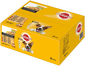 80 x 100g Pedigree Adult Auswahl in Sauce