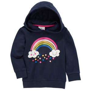 Mädchen Sweatshirt mit Regenbogen-Print