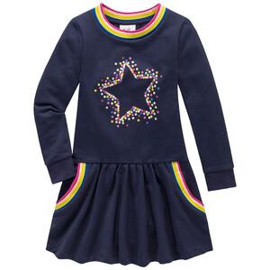 Mädchen Sweatkleid mit Stern-Motiv