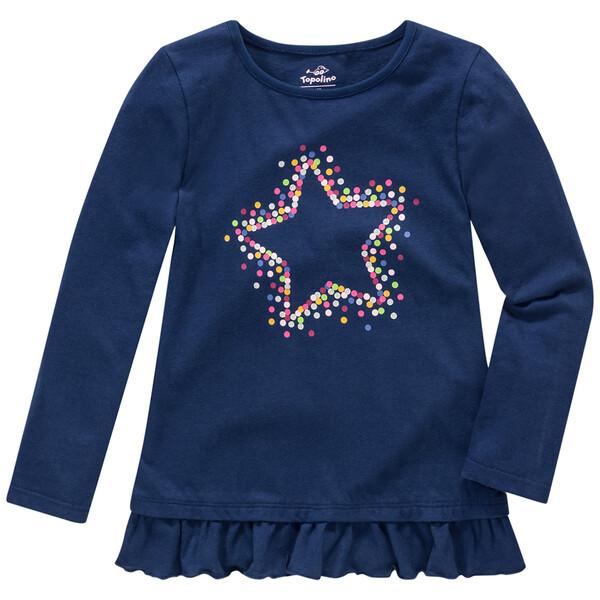 Mädchen Langarmshirt mit Stern-Print