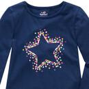 Bild 2 von Mädchen Langarmshirt mit Stern-Print