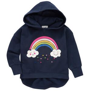 Mädchen Hoodie mit Regenbogen-Motiv