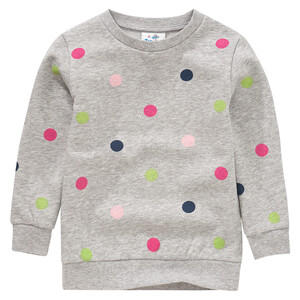 Mädchen Sweatshirt mit Punkte-Allover