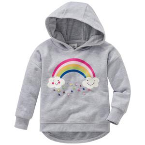 Mädchen Sweatshirt mit Regenbogen-Motiv