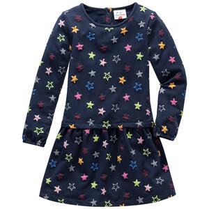 Mädchen Sweatkleid mit Sternen allover