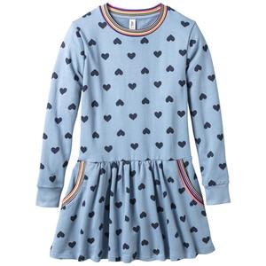 Mädchen Kleid mit Herz-Print