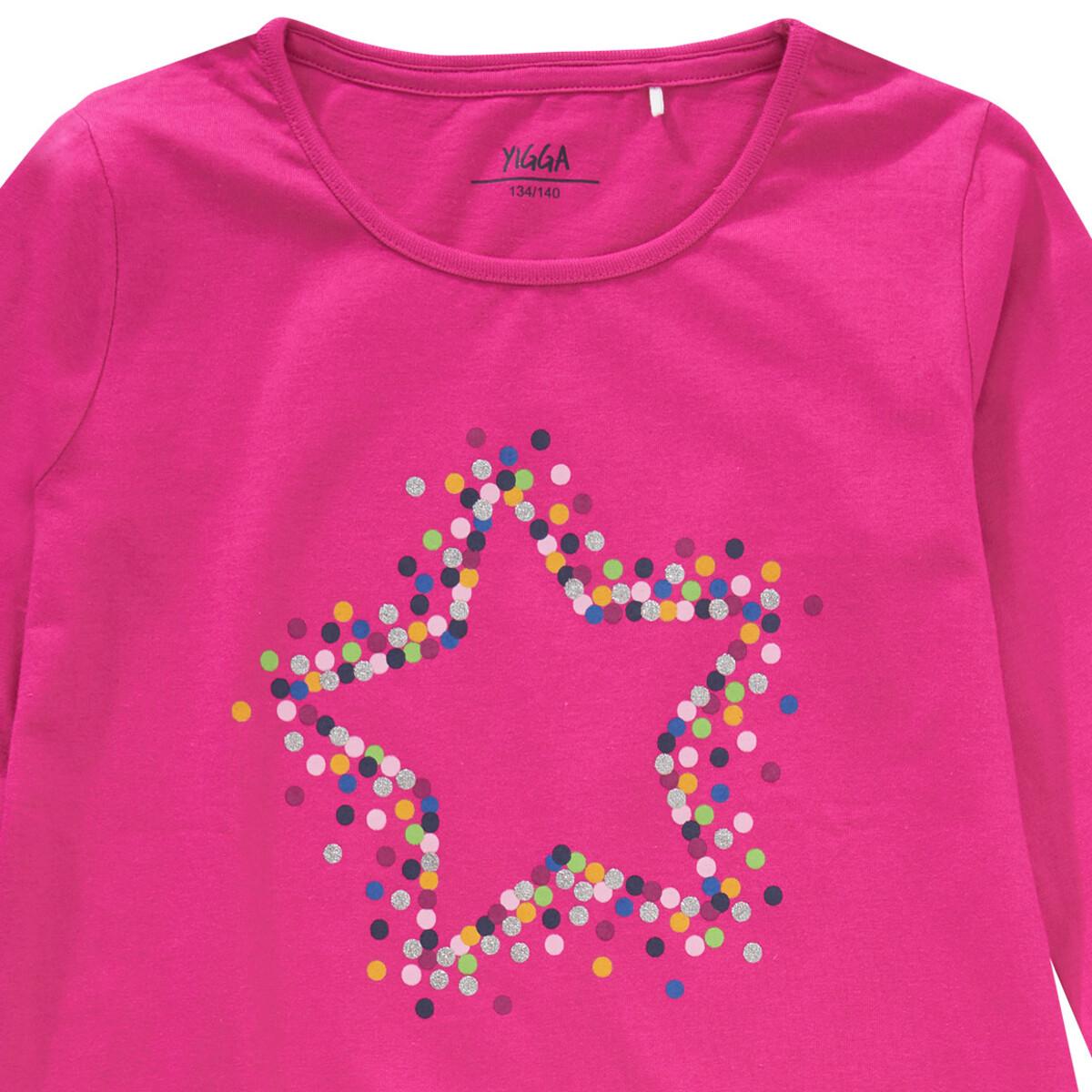 Bild 2 von Mädchen Langarmshirt mit Sternen-Print