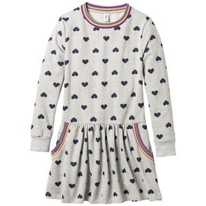 Mädchen Kleid mit Herz-Allover