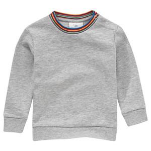 Baby Sweatshirt mit Regenbogen-Bündchen