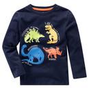 Bild 1 von Jungen Langarmshirt mit Dino-Print