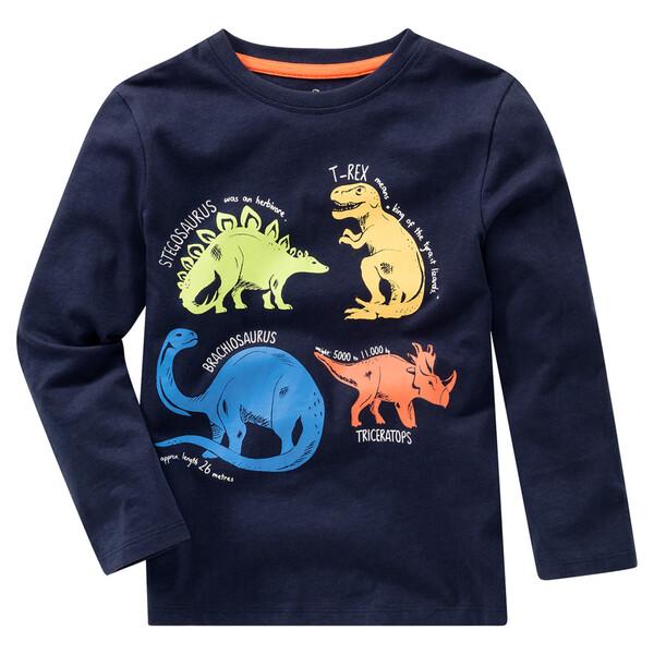 Jungen Langarmshirt mit Dino-Print