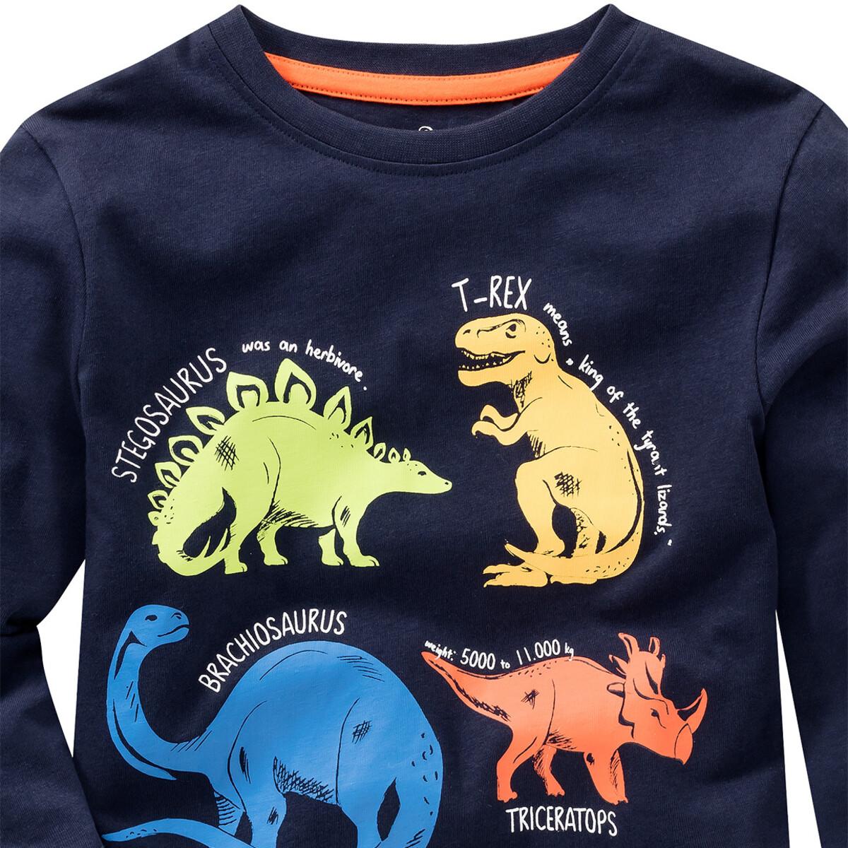 Bild 2 von Jungen Langarmshirt mit Dino-Print