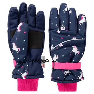 Mädchen Handschuhe mit Einhorn-Motiv
