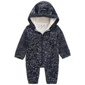 Newborn Strick-Overall mit Kapuze