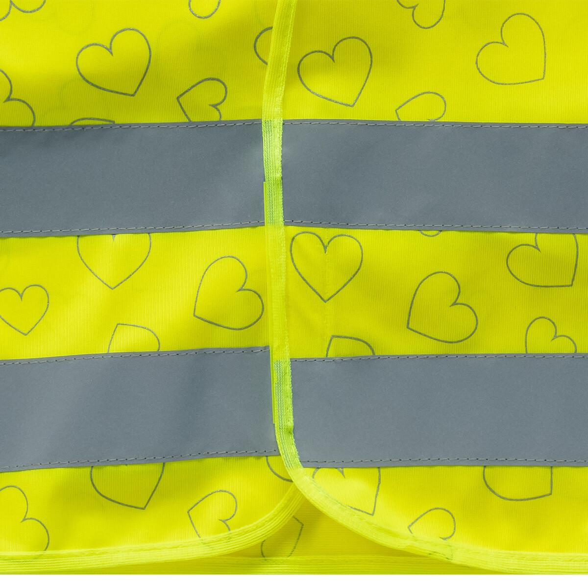 Bild 3 von Mädchen Warnweste mit Herz-Allover