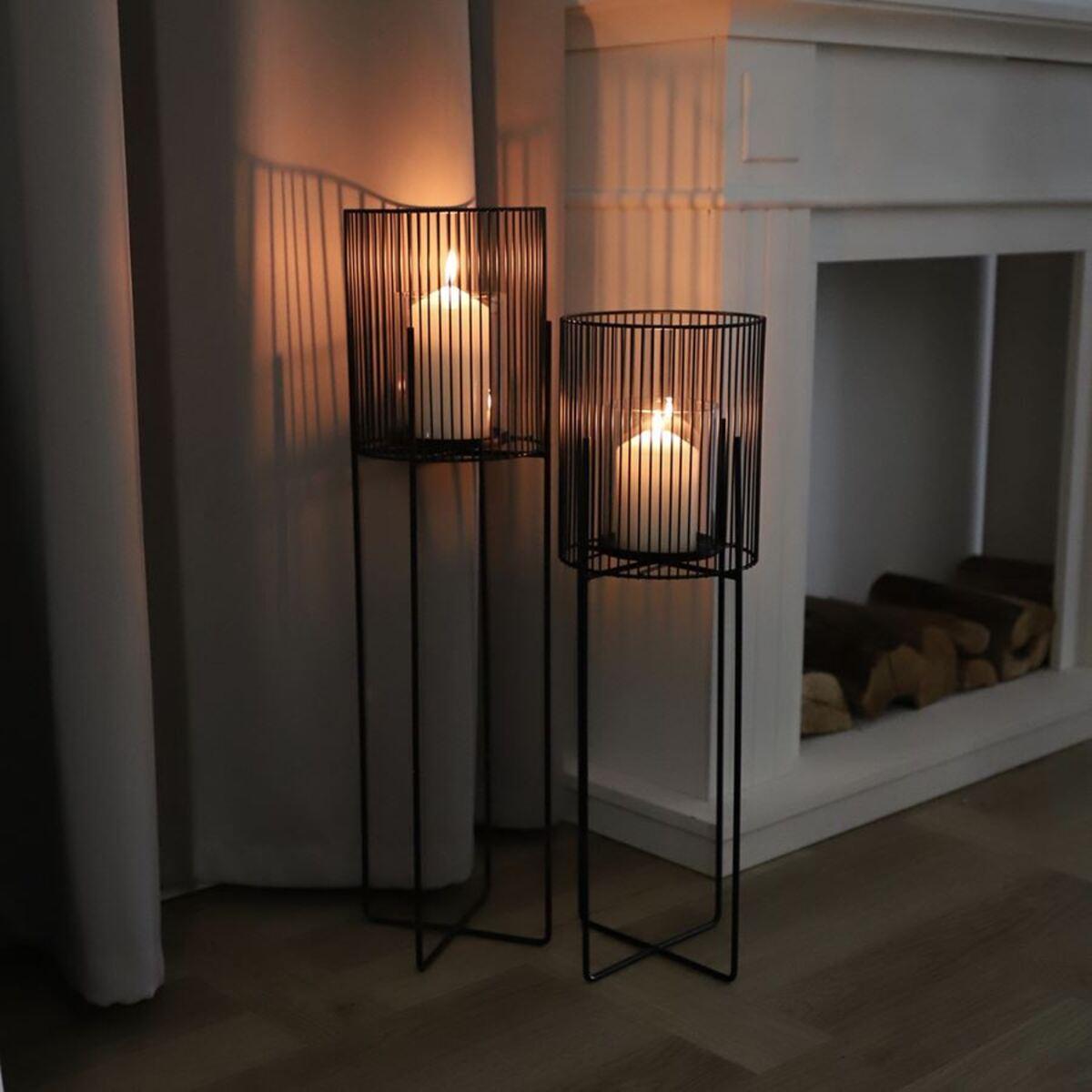 Bild 2 von Metall-Windlicht mit Glaseinsatz 73cm