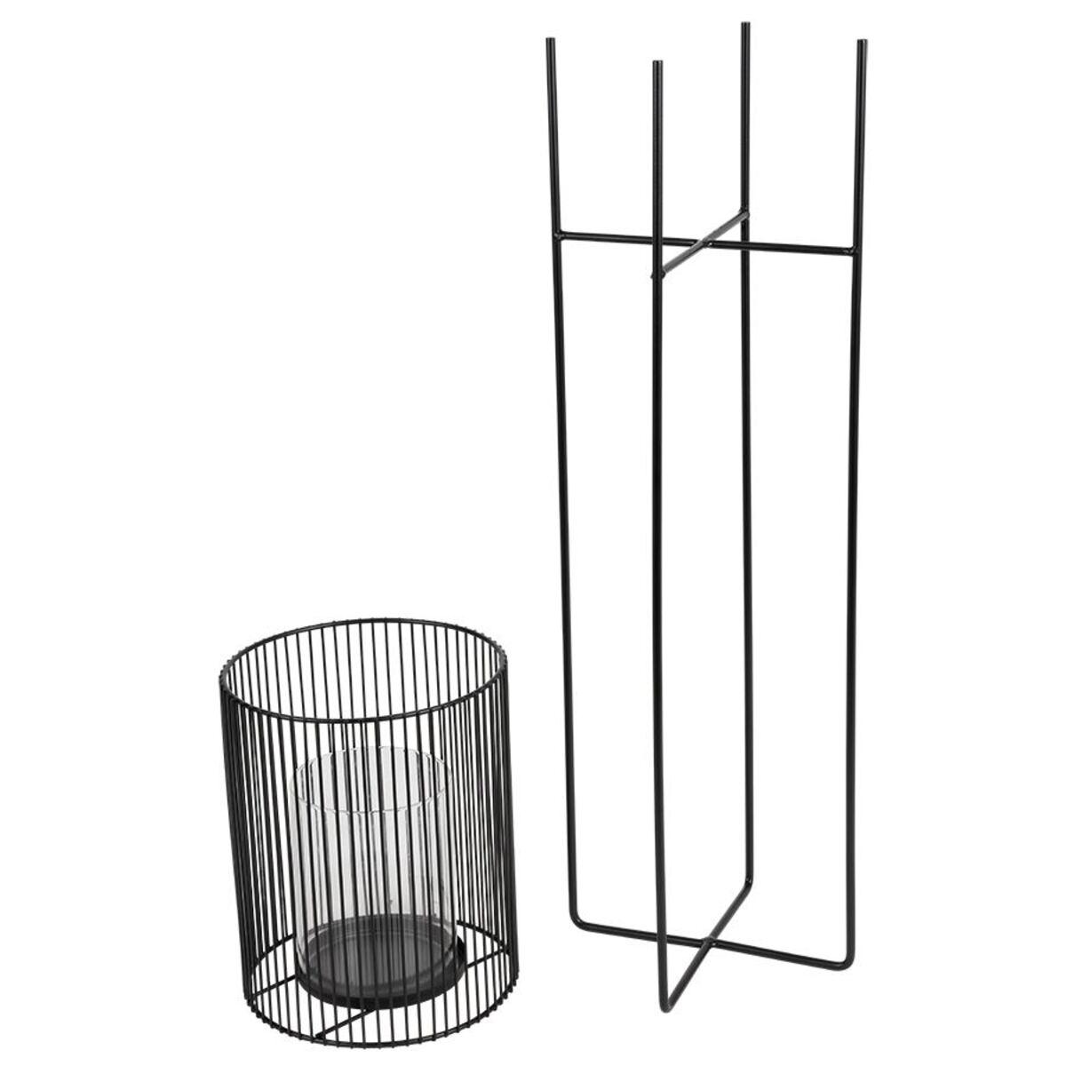 Bild 4 von Metall-Windlicht mit Glaseinsatz 73cm