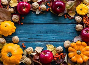 Platzset, »Tischsets I Platzsets - Herbstdeko mit Kürbissen & Äpfeln - 12 Stück aus hochwertigem Papier 44 x 32 cm«, Tischsetmacher, (12-St)