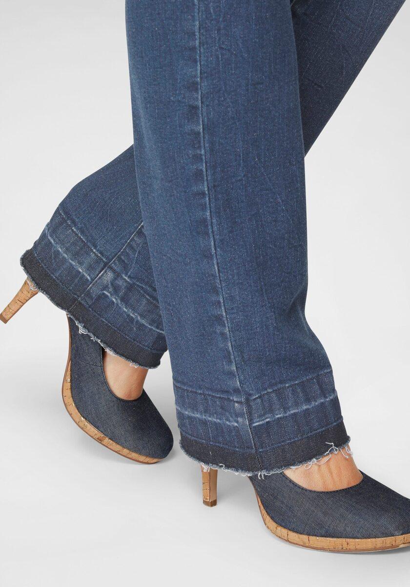 Bild 2 von Arizona Gerade Jeans »Comfort-Fit« High Waist - mit Fransensaum