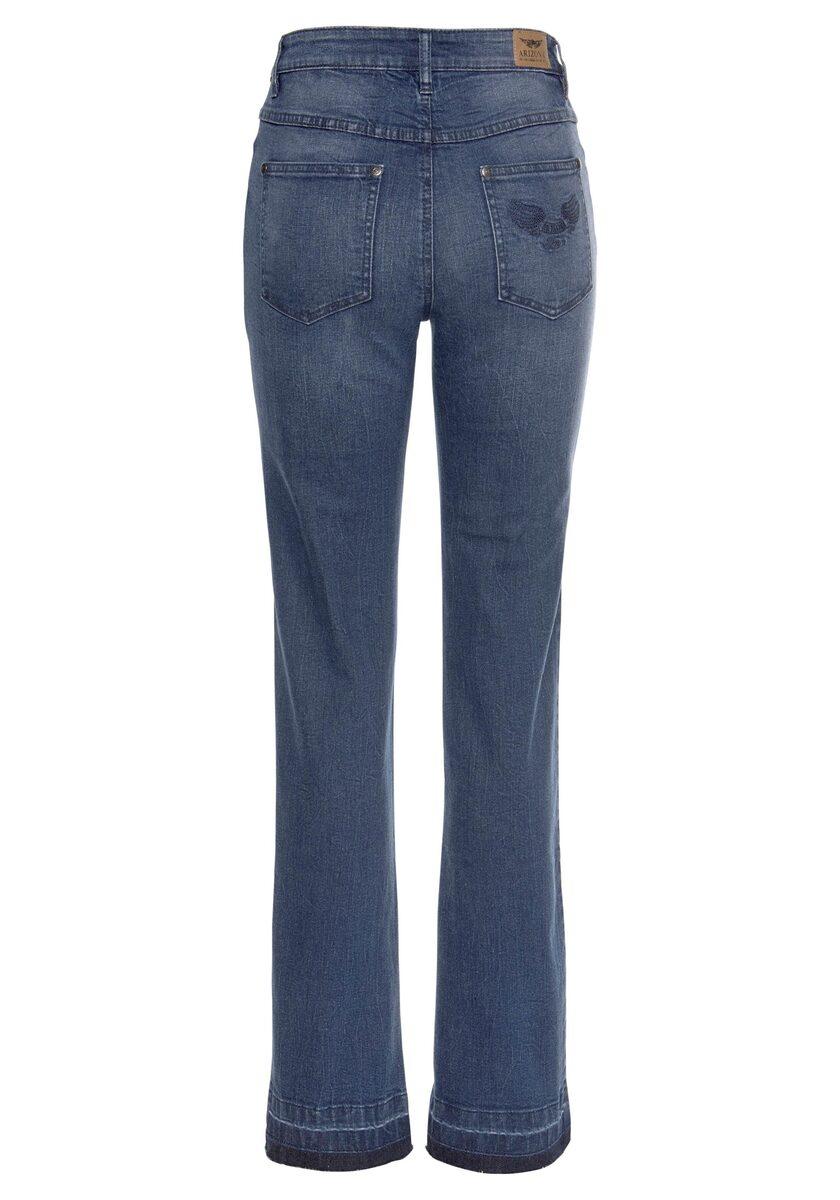 Bild 4 von Arizona Gerade Jeans »Comfort-Fit« High Waist - mit Fransensaum