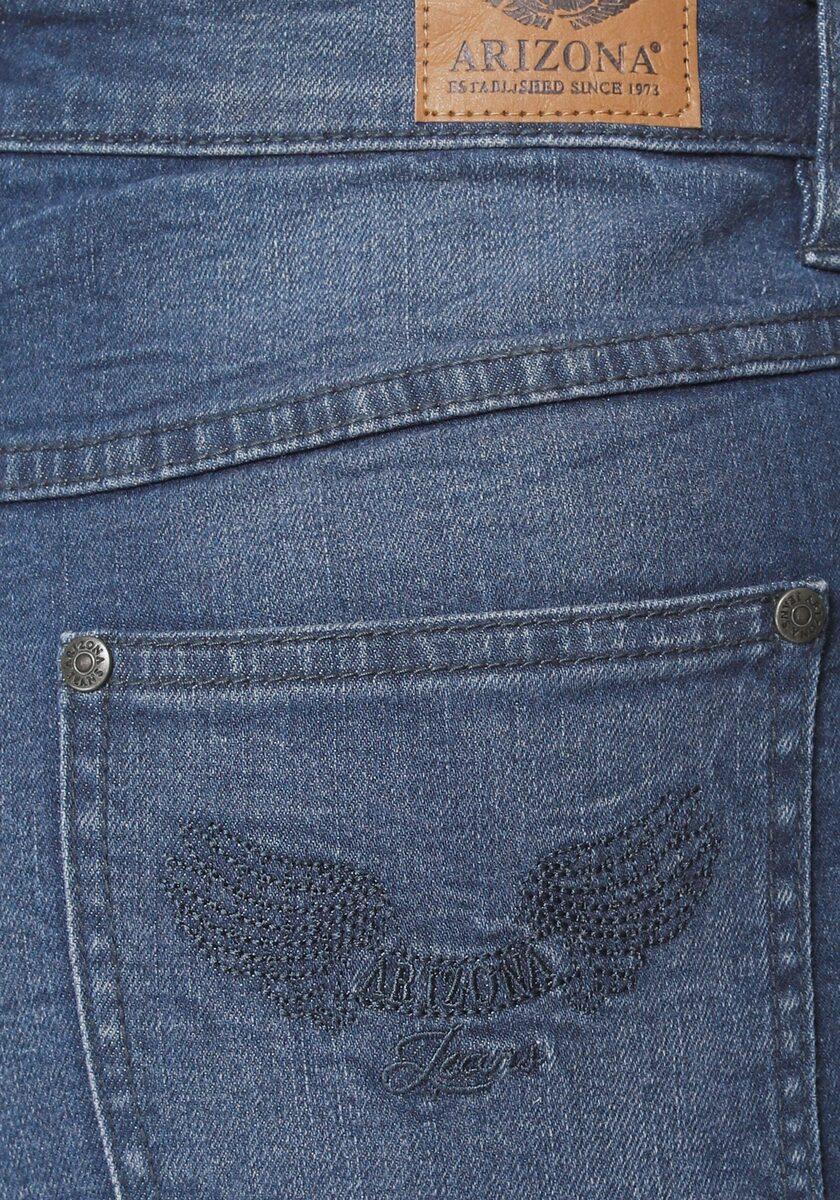 Bild 5 von Arizona Gerade Jeans »Comfort-Fit« High Waist - mit Fransensaum