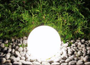 TRANGO LED Gartenleuchte »GARDEN«, 200B LED-Gartenkugel IP44 Kugelleuchte mit 20cm Durchmesser in Weiß inklusive 1x E27 LED-Leuchtmittel 3000K warmweiß & ca. 5m Zuleitungskabel Gartenleuchte Auß