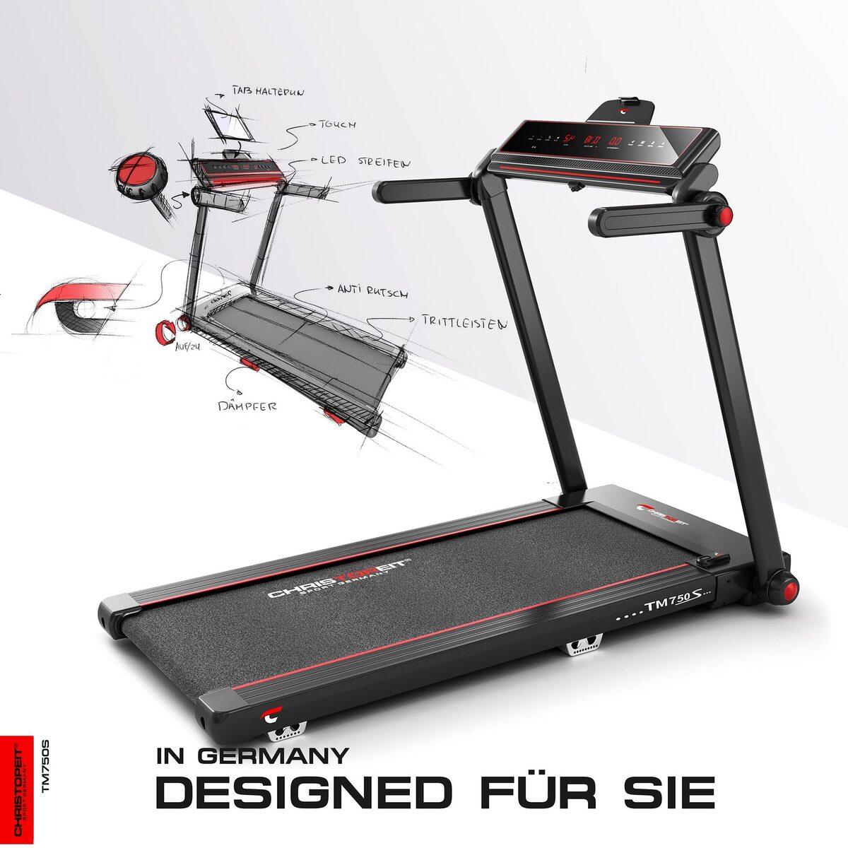 Bild 3 von Christopeit Sport® Laufband »TM 750 S«, 100% vormontiert, nur 19 cm flach