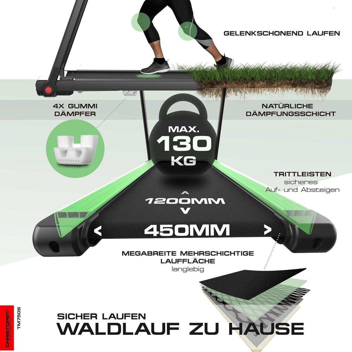Bild 5 von Christopeit Sport® Laufband »TM 750 S«, 100% vormontiert, nur 19 cm flach