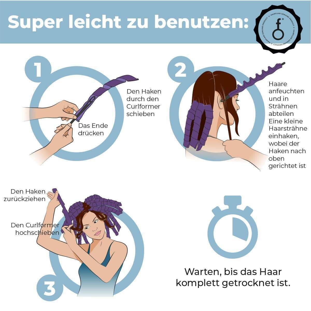 Bild 5 von Hairflair curlformers Barrel Curl Styling Kit