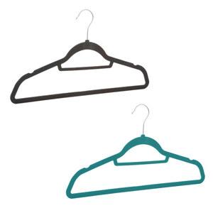 ProVida Kleiderbügel Set 20 Stück beflockt in verschiedenen Farben