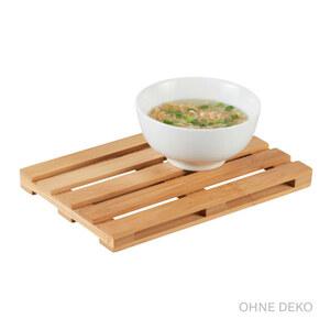 Casalino  Servierplatte aus Bambus 24 x 16 x 2 cm