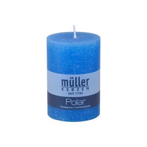 Müller Kerzen Polar Stumpenkerze 100/68 mm in blau