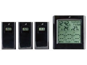 AURIOL® Funkwetterstation, mit 3 Sensoren, 100 m Reichweite, spritzwassergeschützt