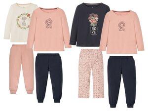 LUPILU® Kleinkinder Schlafanzug Mädchen, 2 Stück, mit Print, aus Baumwolle