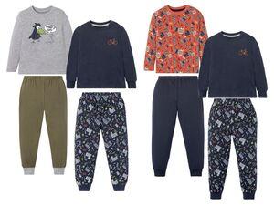 LUPILU® Kleinkinder Schlafanzug Jungen, 2 Stück, mit Print, aus Singel-Jersey-Qualität
